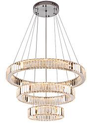 cheap -Modern Mirror Stainless Steel Crystal Lighting 3 Rings LED Pendant Lights Cristal Dinning Decorative Chandeliers Hanging Lamp  110-120V / 220-240V