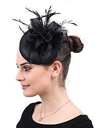 cheap -Ladies Vintage Trendy Elegant Feather Wedding Party Evening - Solid Colored
