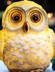 cheap -0.8W LED IP65 Waterproof Owl Shape Solar Power Lamp Landscape Ornament Cartoon Animal Underground Light Garden Yard Decor