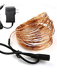 Недорогие -Loende праздник освещения DC Cooper Wire 10 м сказочные огни с 12 В 1a адаптер Рождество Новый год свадебные украшения огни