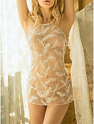 cheap -Women's Babydoll & Slips / Suits Nightwear - Backless / Cut Out Solid Colored White L XL XXL