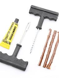 cheap -6Pcs/Set Professional Auto Car Tire Repair Kit Car Bike Auto Tubeless Tire Tyre Puncture Plug Repair Tool Kit