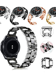 cheap -Smart Watch Band for Samsung Galaxy 1 pcs Sport Band Jewelry Design Stainless Steel Replacement  Wrist Strap for Gear S3 Frontier Gear S3 Classic Samsung Galaxy Watch 46mm