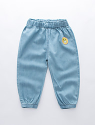 cheap -Kids Boys' Basic Street chic Solid Colored Patchwork Embroidered Cotton Jeans Light Blue