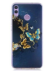 cheap -Case For Huawei Honor 8X / Huawei P Smart (2019) Pattern / Transparent Back Cover Gold Butterfly Soft TPU for Mate10 Pro / Mate10 Lite / Y6 (2018) / Y5 (2018) / P20 Lite / P Smart / P20 Pro