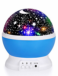 cheap -1pc Baby Night Light Moon Star Projector 360 Degree Rotation - 4 LED Bulbs 9 Light Color Changing with USB Cable Unique Gifts for Men Women Kids Best Baby Gifts 5V