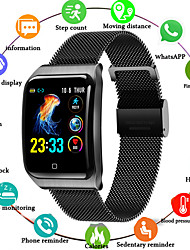 cheap -F9 Smartwatch Stainless Steel BT Fitness Tracker Support Notify/ Blood Pressure Measurement Sports Smart Watch for Samsung/ Apple/ Android Phones