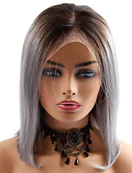 cheap -Human Hair Lace Front Wig Bob style Brazilian Hair Straight Wig 130% Density Women Best Quality New New Arrival Hot Sale Women's Short Wig Accessories Human Hair Lace Wig Laflare
