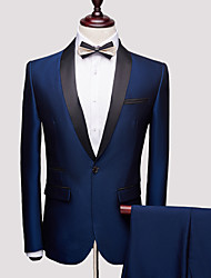 cheap -Tuxedos Slim Fit Shawl Collar One-Button Spandex / Polyester Solid Colored / Textured / Classic