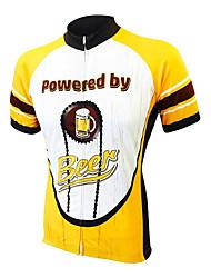 Недорогие -21Grams Муж. С короткими рукавами Велокофты Желтый Пиво Октоберфест Велоспорт Джерси Верхняя часть Горные велосипеды Шоссейные велосипеды Быстровысыхающий Впитывает пот и влагу Виды спорта Одежда