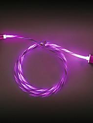 Недорогие -светодиодный магнитный кабель micro usb type c зарядное устройство быстрой зарядки телефонный кабель шнур 1 м