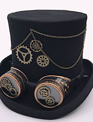 cheap -Feather / 100% Wool / Alloy Headwear with Cap / Chain / Metal 1 Piece Daily Wear / Outdoor Headpiece