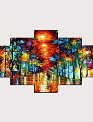 cheap -Print Stretched Canvas Prints - Landscape Traditional Modern Five Panels Art Prints
