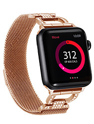 Недорогие -для яблочного ремешка для часов 44мм / 40мм / 38мм / 42мм женский ремешок с бриллиантом для яблочного ремешка серии 4/3/2/1 браслет iwatch из нержавеющей стали d word chain