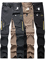 cheap -Men's Hiking Pants Trousers Convertible Pants / Zip Off Pants Solid Color Outdoor Waterproof Breathable Quick Dry Stretchy Elastane Pants / Trousers Bottoms Dark Grey Black Khaki Hunting Fishing