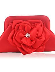 Недорогие -Жен. Цветы Шелк Вечерняя сумочка Цветочный принт Красный