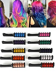 cheap -10 Colors Mini Disposable Personal Salon Use Temporary Hair Dye Comb Professional Crayons for Hair Color Chalk Hair Dyeing Tool