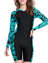 cheap -SBART Women's Rash Guard Dive Skin Suit 1mm Elastane Diving Suit SPF50 UV Sun Protection Quick Dry Long Sleeve Boyleg - Swimming Diving Surfing Classic Fashion Spring Summer Fall / Stretchy