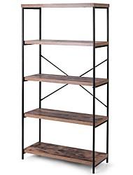 Недорогие -промышленный металл дерево 5-уровневый стеллаж для хранения книжная полка