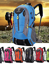 cheap -Daofeng 50 L Hiking Backpack Breathable Rain Waterproof Fast Dry Outdoor Fishing Hiking Cycling / Bike Polyester Nylon Red Green Blue