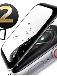 Недорогие -защитная пленка для яблочных часов серии 4/3/2/1 из закаленного стекла высокой четкости (HD) / твердость 9 ч / 3D / взрывозащищенные 2 шт.