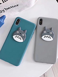 cheap -Case For Apple iPhone XR / iPhone XS Max / iPhone X Pattern Back Cover 3D Cartoon Soft Silicone