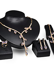 cheap -Women's Bridal Jewelry Sets Classic Blessed Stylish Rhinestone Earrings Jewelry Gold For Wedding Party 1 set