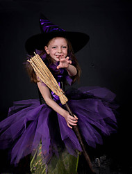cheap -Girls Tutu Dresses Children Cosplay Witch Halloween Costumes Carniva Party Fancy Clothes With Hat