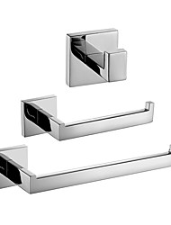 cheap -Bathroom Accessory Set New Design / Creative Contemporary / Modern Metal 3pcs - Bathroom Wall Mounted