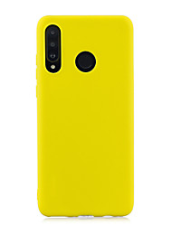 cheap -Case For Huawei P30 Pro Huawei P30 Lite Phone Case TPU Material Candy Series Solid Color Phone Case