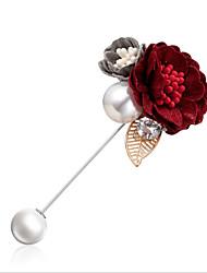 abordables -Femme Broche Rétro Fleur Elégant Tendance Broche Bijoux Noir Orange et Rose dragée Violet Pour Soirée Festival