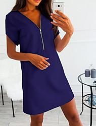 cheap -Women's A Line Dress Deep V Black Wine White S M L XL