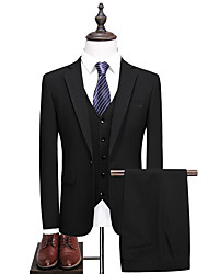 cheap -Tuxedos Standard Fit Notch Single Breasted One-button Polyester / Cotton Blend / Polyster Solid Colored
