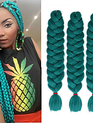 cheap -Crochet Hair Braids Jumbo Box Braids Natural Color Synthetic Hair Braiding Hair 3 Pieces Heat Resistant