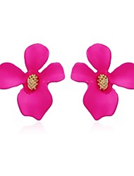 cheap -Women's Stud Earrings Flower Rustic Cute Earrings Jewelry Rose / Green / Light Pink For Daily Festival 1 Pair