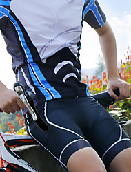 cheap -Wheel up Men's Cycling Padded Shorts Bike Shorts Padded Shorts / Chamois Bottoms Breathable 3D Pad Moisture Wicking Sports Geometic Spandex Black / Red / Black / Blue / Golden+Black Mountain Bike MTB