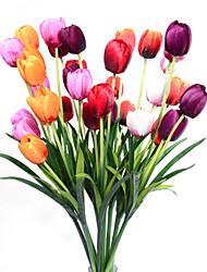 Недорогие -Искусственные Цветы 1 Филиал Классический европейский Простой стиль Тюльпаны Вечные цветы Букеты на стол
