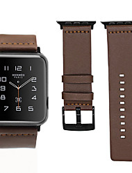 cheap -Genuine Leather Wristband Wrist Strap Watch band For Apple Watch Series 1/2/3/4 38mm 40mm 42mm 44mm