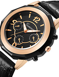cheap -Men's Dress Watch Quartz Formal Style Leather Black / Brown Casual Watch Analog Fashion - Black / Brown Black / White White / Brown One Year Battery Life / Stainless Steel
