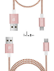cheap -Micro USB Cable Normal / Braided Terylene / Nylon / leatherette USB Cable Adapter For Samsung / Huawei / Nokia
