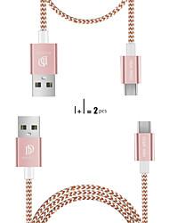 Недорогие -Micro USB Кабель Нормальная / Плетение Терилен / Нейлон / Искусственная кожа Адаптер USB-кабеля Назначение Samsung / Huawei / Nokia