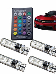 cheap -4pcs T10 Car Light Bulbs 2 W COB 120 lm 6 LED License Plate Lights / Strobe / Flashing / Side Marker Lights For universal All years
