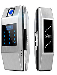 cheap -Lock God zinc alloy fingerprint lock glass door semiconductor single open double open remote control password ic card attendance doorbell