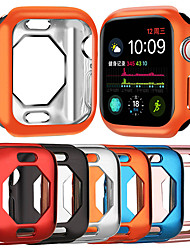 Недорогие -Чехлы для Apple Watch серии 4 совместимость с ТПУ Apple инновационный восьмиугольный ТПУ полый корпус защитный рукав