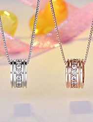 cheap -Women's Pendant Classic Copper Rhinestone Champagne Silver Necklace Jewelry 1pc For Daily