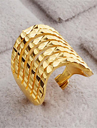 cheap -Women Open Ring Geometrical Gold 18K Gold Filled Happy Stylish 1pc Adjustable / Women's