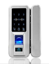 cheap -Home smart fingerprint lock factory wholesale Remote control smart lock fingerprint lock Office glass door fingerprint lock