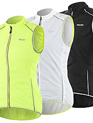 cheap -Arsuxeo Women's Cycling Vest Polyester Green White Black Bike Vest / Gilet Windproof UV Resistant Quick Dry Reflective Strips Back Pocket Sports Solid Color Mountain Bike MTB Road Bike Cycling