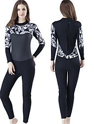 cheap -MYLEDI Women's Full Wetsuit 3mm SCR Neoprene Diving Suit Anatomic Design High Elasticity Long Sleeve Back Zip - Swimming Water Sports Solid Colored Camo / Camouflage Autumn / Fall Spring Summer