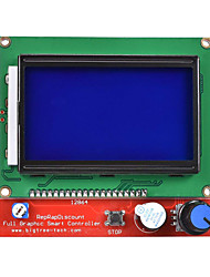 cheap -12864 LCD Display Smart Controller with Adapter for RAMPS 1.4 RepRap Guru 3D Printer